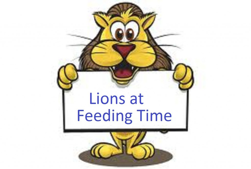 Lions at Feeding Time